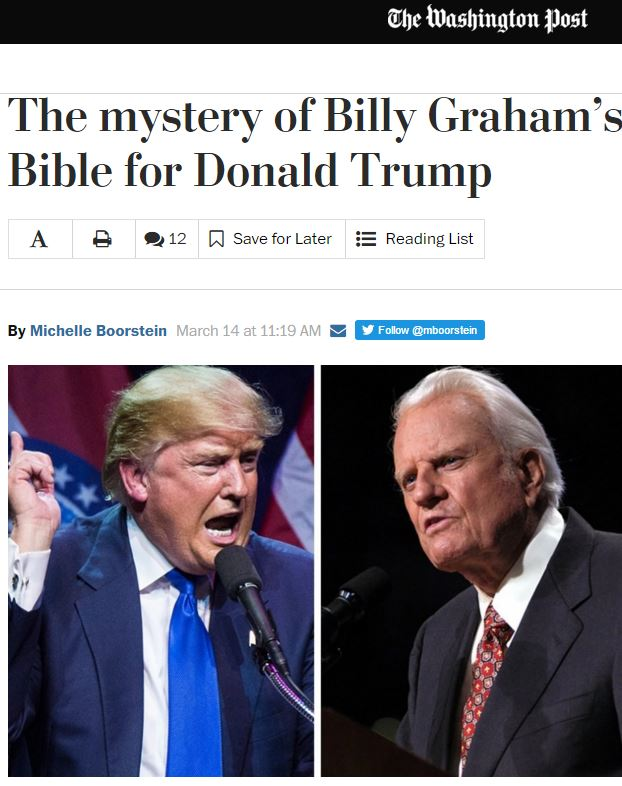 """Liar!"", meant Billy Graham Evangelical Association"